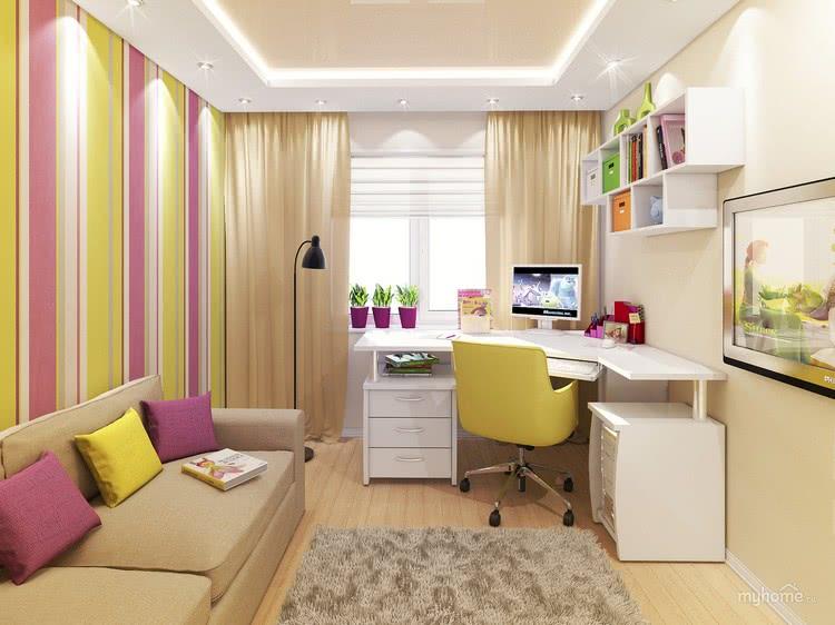 Дизайн комнаты для школьника с