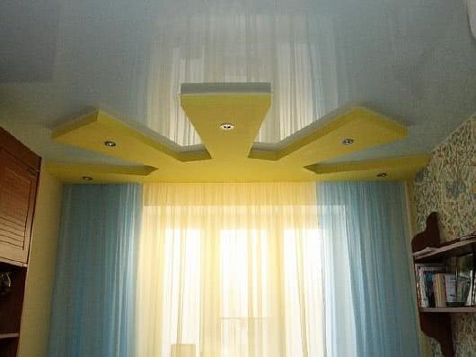 Двухуровневые потолки в детской фото