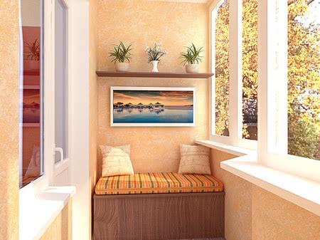 Помещений дизайн балконов и веранд