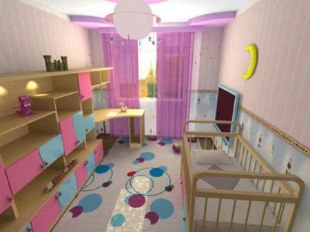 Дизайн детской комнаты розовые тона