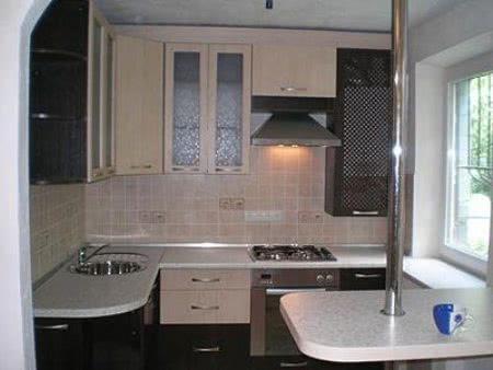С - планировка кухни