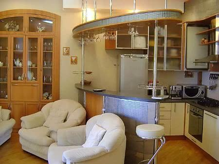 Интерьер фото кухня студия