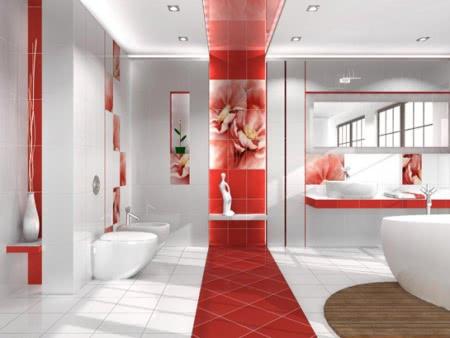 Дизайн ванной комнаты - Цвет