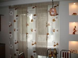 Японские шторы или, как их еще называют, японские панели, можно изготовить