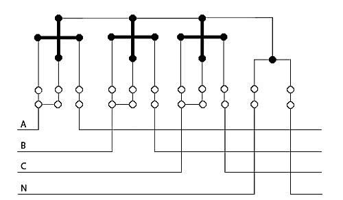 Схема подключения трёхфазного