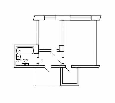 Чертеж плана квартиры Схема электропроводки представляет собой чертеж.