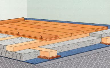 Установка по несущим деревянным конструкциям