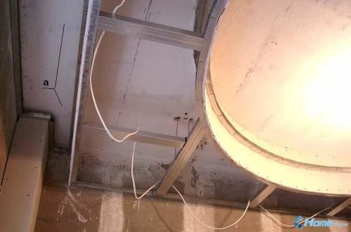 Потолок из гипсокартона своими руками карниз