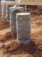 Столбчатый фундамент из рубероида