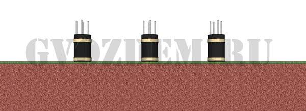 Подрезка опалубки в столбчатом фундаменте