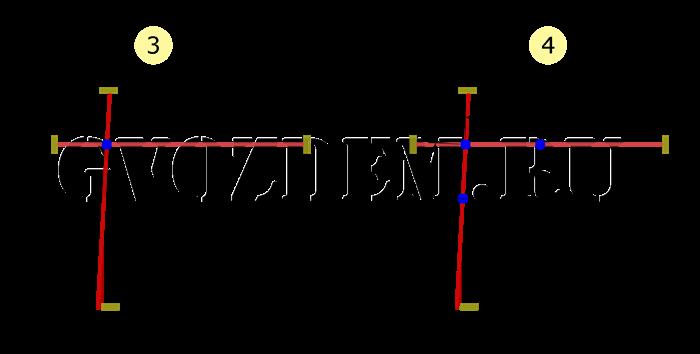 Разметка под фундамент. Треугольник 3х4х5