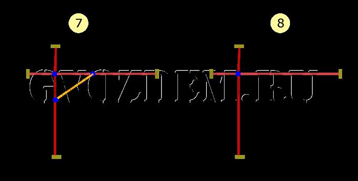 Прямоугольный угол при построении разметки под фундамент