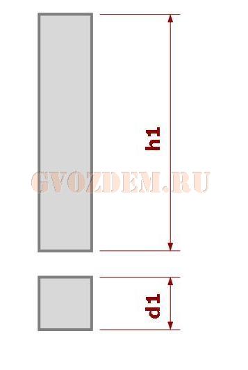 Столб без уширения пяты (сечение квадрат)