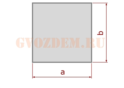 Столб - квадратное сечение