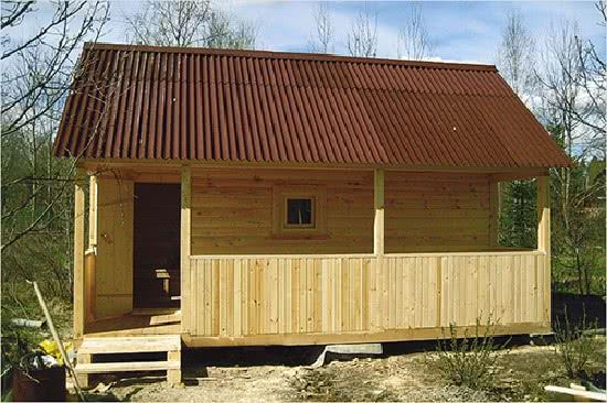 Крыша бани: стропила, обрешетка, листовая и рулонная кровля. Фото, видео.