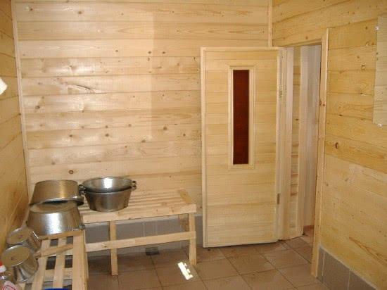 Как сделать помывочную в деревянной бане видео