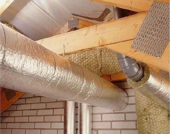 Теплоизоляция труб на чердаке