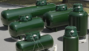 Виды газгольдеров для отопления дачи, коттеджа