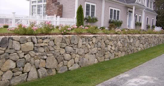 Бутовые опорные стены