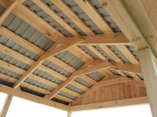 Крыша двухскатная для беседки